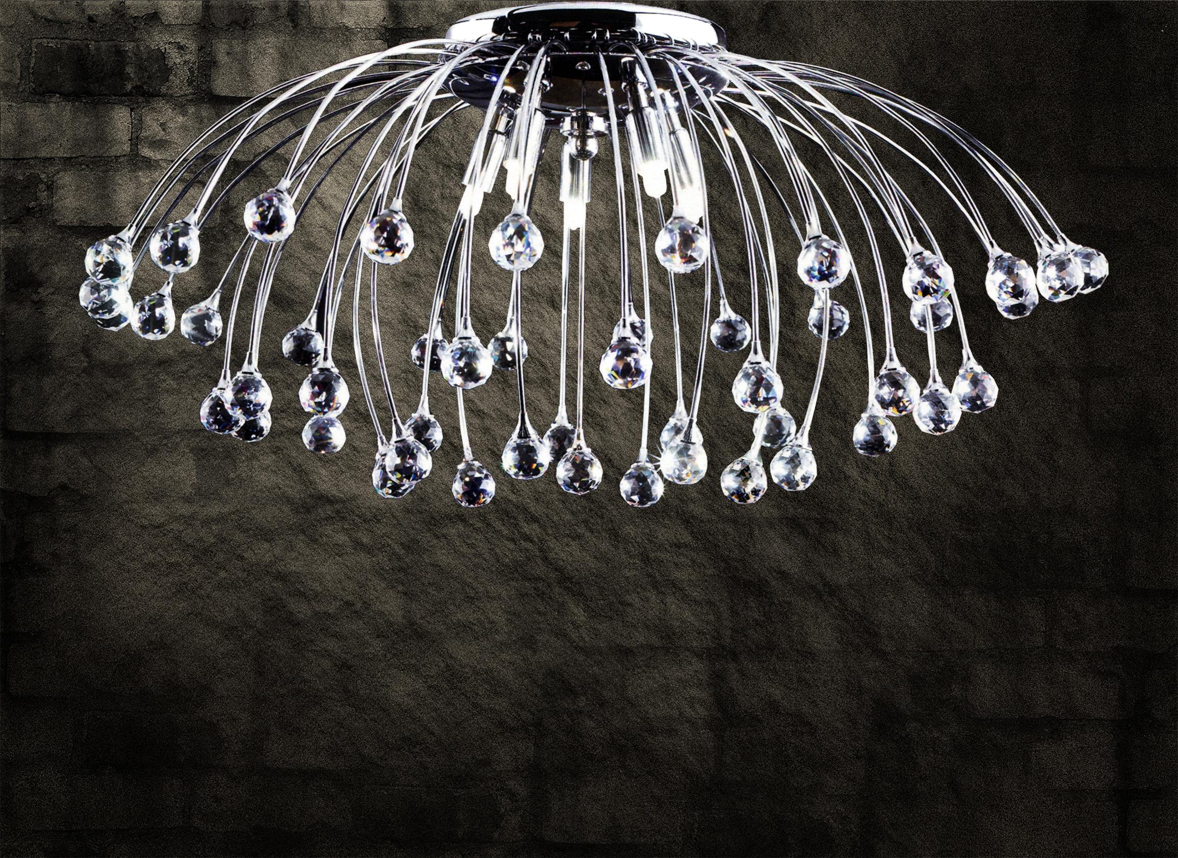 Plafoniere Cristallo Moderne : Lampada da soffitto con sfere di cristallo