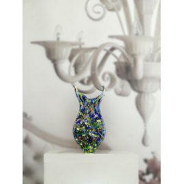 MURANO GLASS VASE WITH MURRINE
