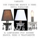 lampadario maria teresa colorato con paralumi